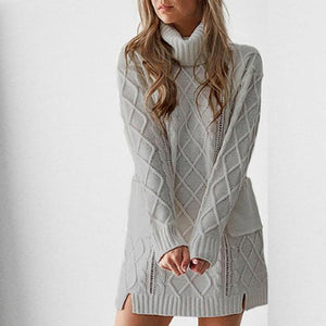 Turtle Neck  Loose Fitting  Plain Sweaters