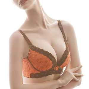 Moisture wicking sexy lace thin frame bra