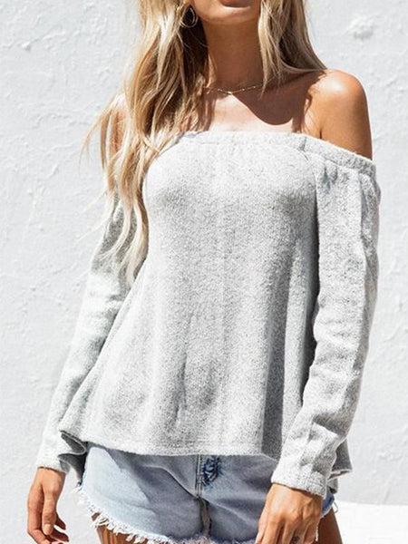 Sexy Loose Backless Knit Sweater
