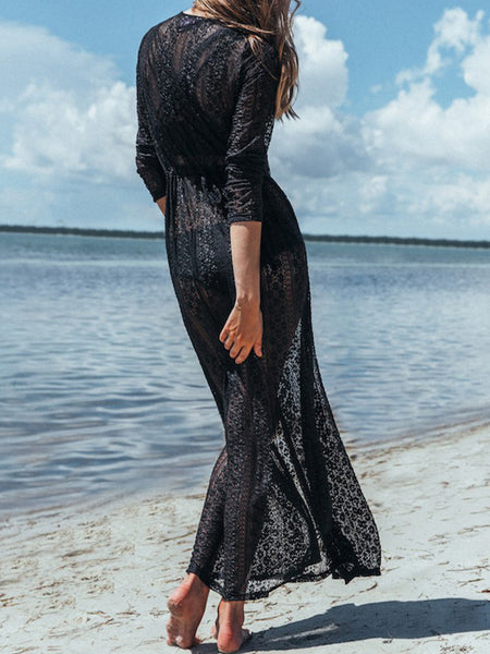 Lace Beach Bikini Long Dress