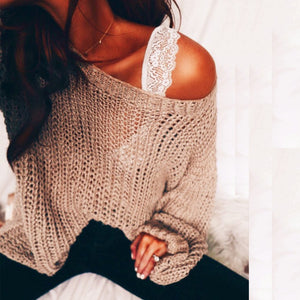 Fashion Hollow Out Loose Sweater