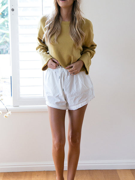 Casual Pure Color Loose Sweatshirts