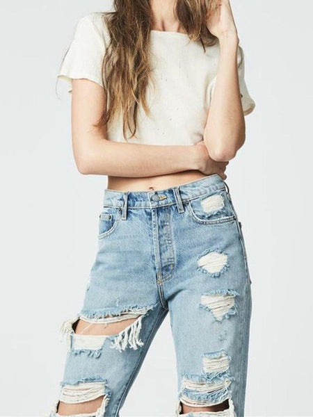 Grinding The Nets   Trend Personality Jeans