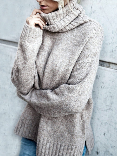 High Neck Warm Knitting Sweater