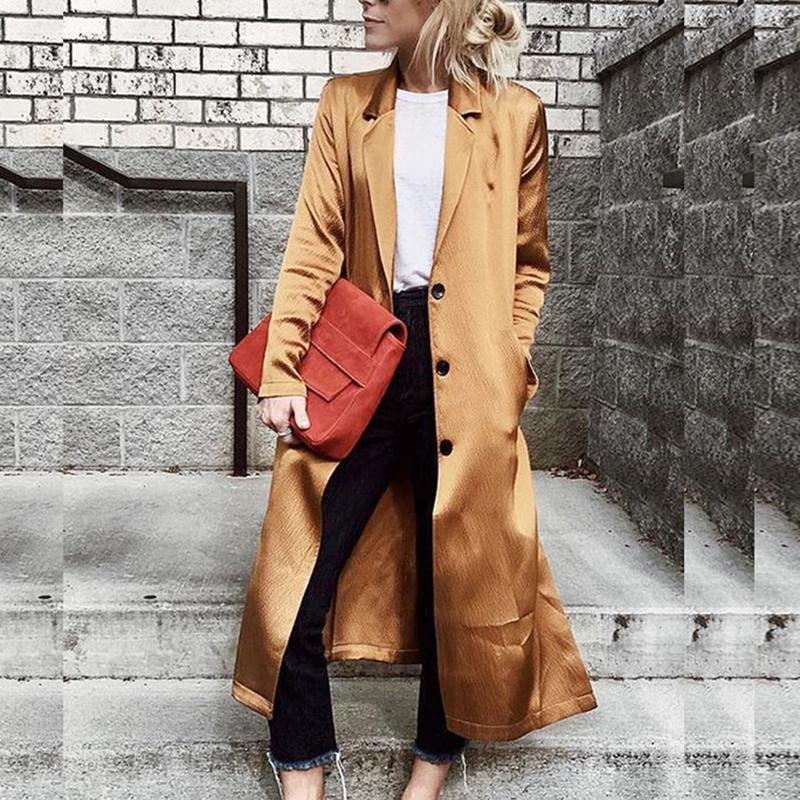 Fashion Women Long Lapel Collar Coat Cardigans