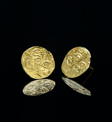 Intaglio Earrings, 1995