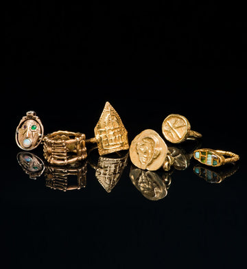 Zola's Diamond Ring, 1974, Wedding Ring, 1969, Duomo Ring, 1986, Egyptian Ring, 1998, Chinese Hula, 1990, Syd's Ring, 2005
