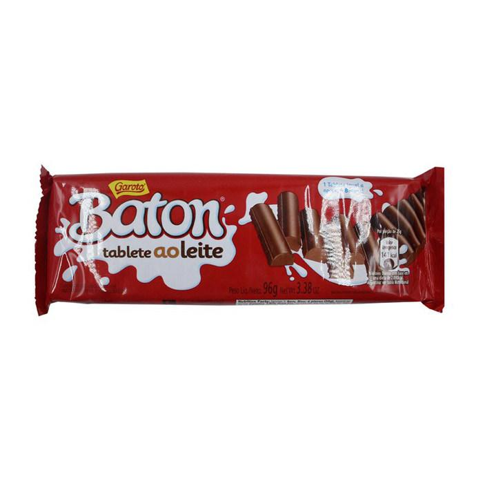 Chocolate Baton Tablete ao Leite Garoto 96g - Favi Foods Brazilian Grocery Food Market