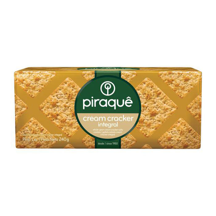 Biscoito Integral Cream Cracker Piraquê 200g