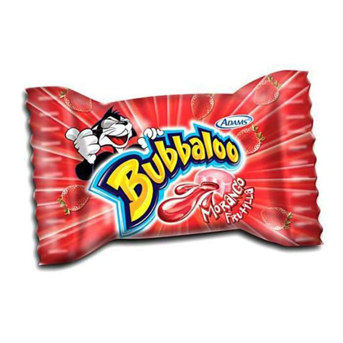 Chicle Morango Bubbaloo - Favi Foods Brazilian Grocery Food Market