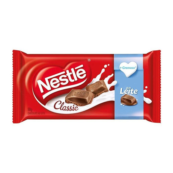 Chocolate ao Leite Classic Tablete Nestlé 90g - Favi Foods Brazilian Grocery Food Market