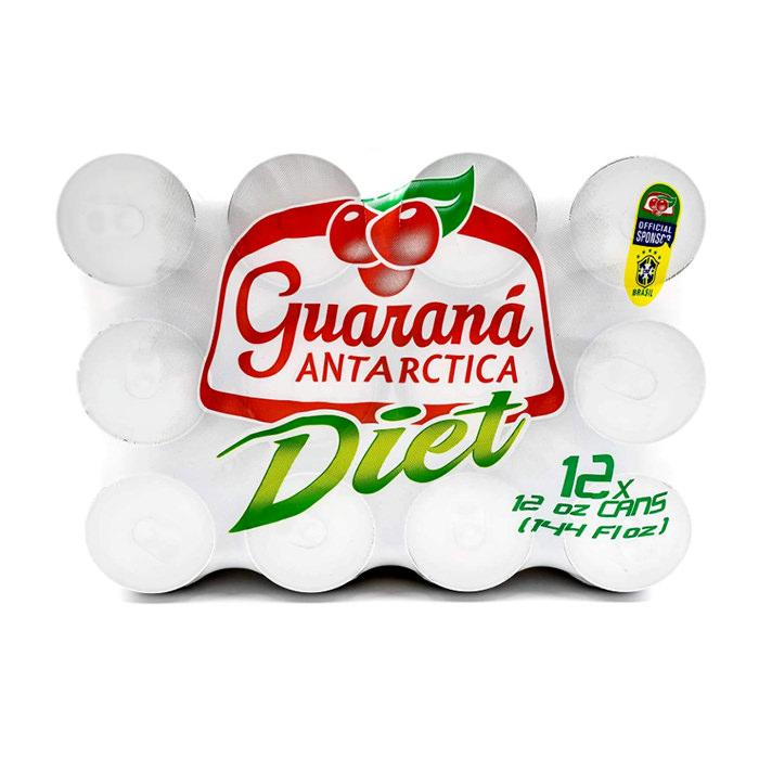 Guaraná Antarctica Diet Lata 355ml 12un - Favi Foods Brazilian Grocery Food Market