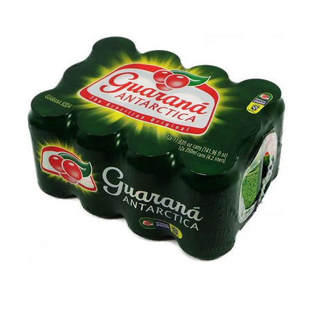Guaraná Antarctica Lata 350ml 11.83oz 12un - Favi Foods Brazilian Grocery Food Market