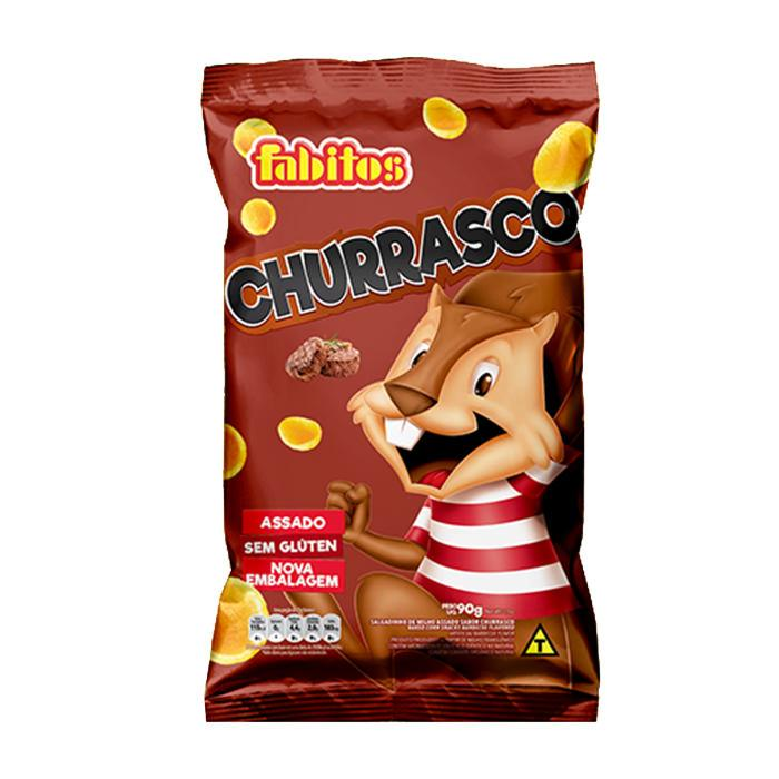 Salgadinho Sabor Churrasco Fabitos 90g - Favi Foods Brazilian Grocery Food Market