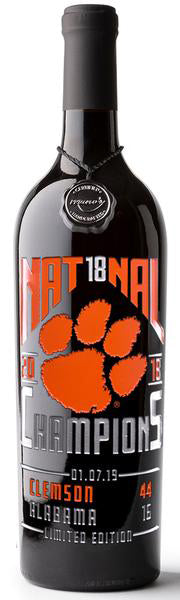2018 Clemson National Champions WINE