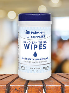 50 COUNT SANITIZING WIPES