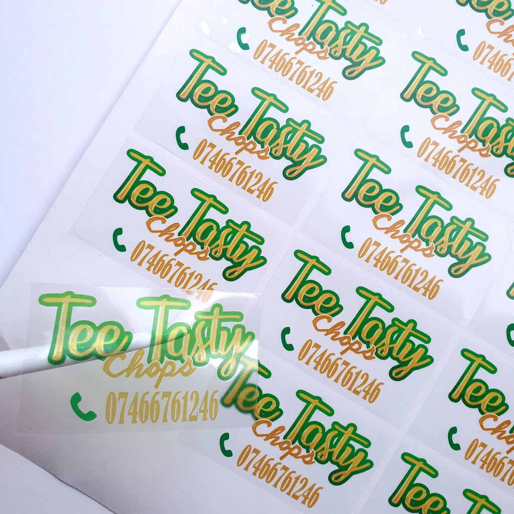 Clear Logo Stickers