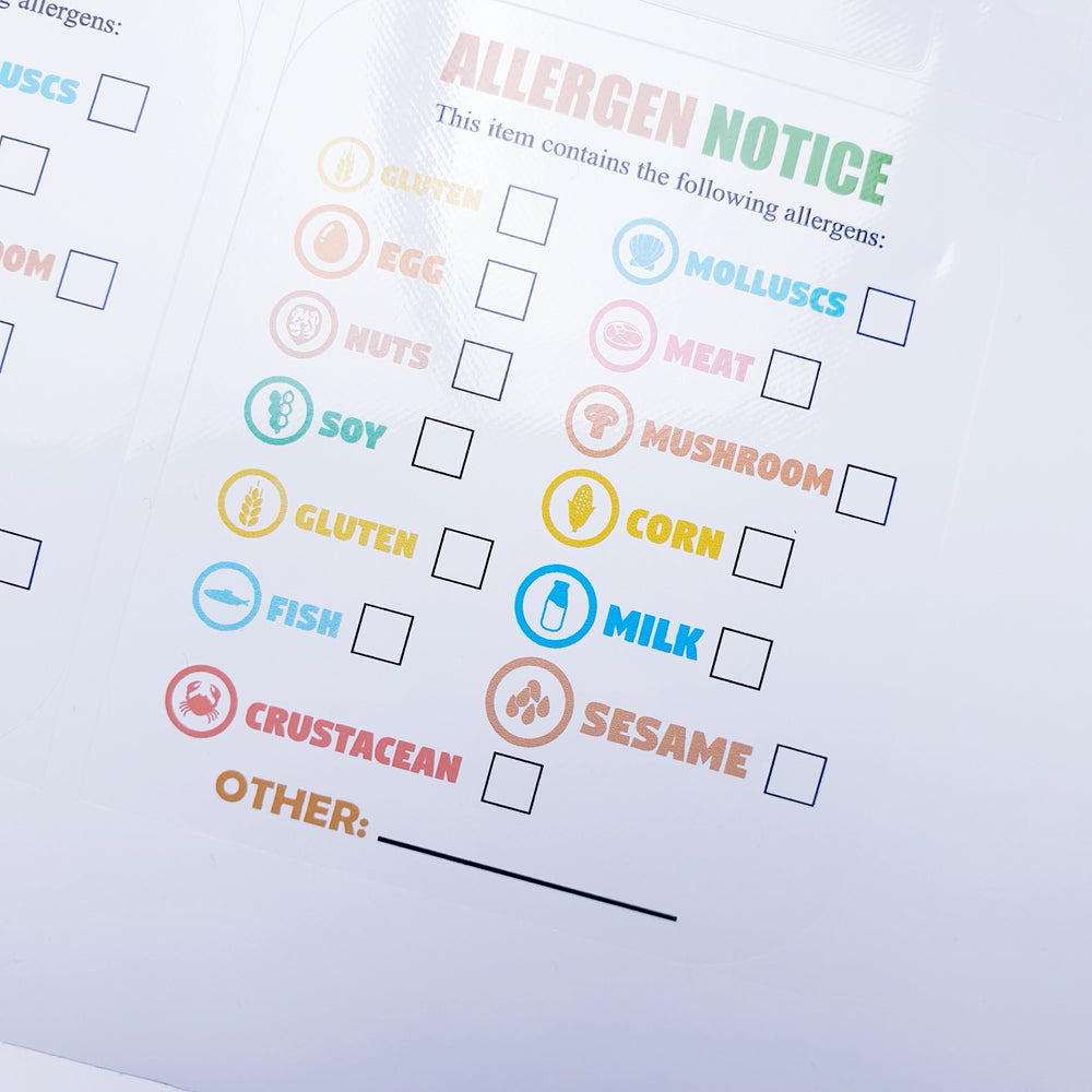 Allergy Tick label