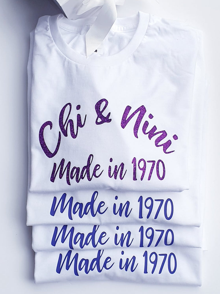 Custom Order - Made in 1971 birthday Tee