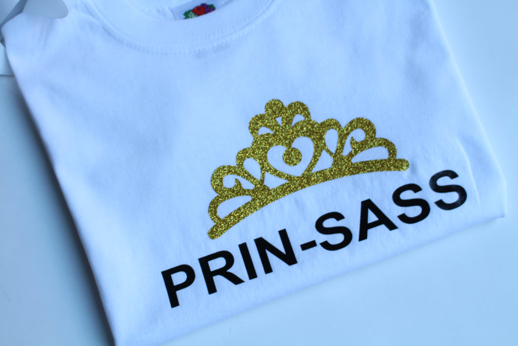 Prin-Sass T-shirt - colour-me-balloon-decor-gifts