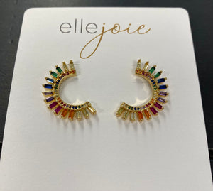 A Burst of Color Earrings
