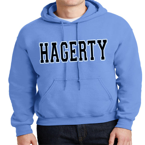 Hagerty High School Block letters Hoodie Sweatshirt VIEW ALL DESIGNS Becky's Boutique Adult Small