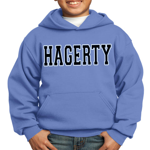 Hagerty High School Block letters Hoodie Sweatshirt VIEW ALL DESIGNS Becky's Boutique Youth XS