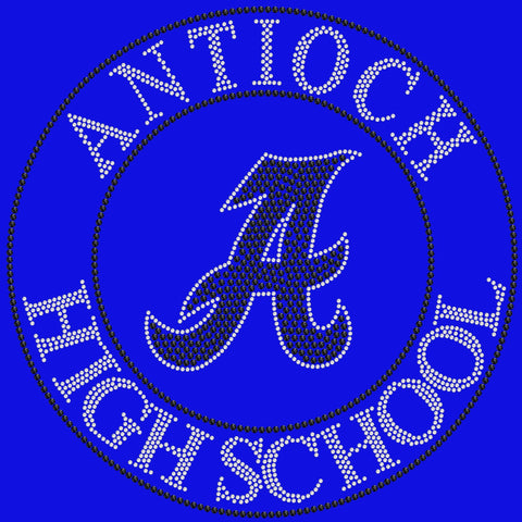 Antioch High School Holographic Spangle Sparkle Bling Shirt, tank or hoodie-LS Shirt, SS Shirt, Racerback tank and hoodie-Becky's Boutique-XS-Short Sleeve V-Neck-Royal Blue-Beckys-Boutique.com