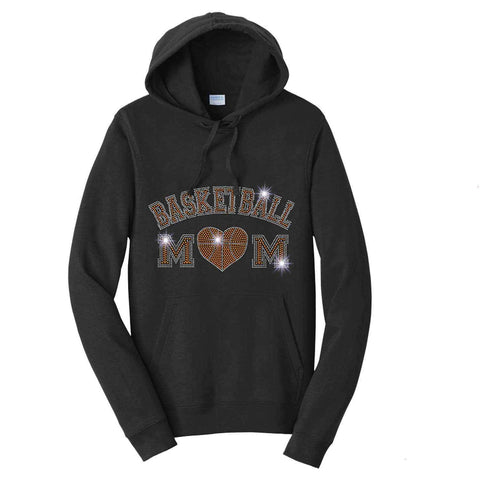 Basketball-Heart basketball mom - Hoodie Sweatshirt Hoodie Sweatshirt Becky`s Boutique Extra Small