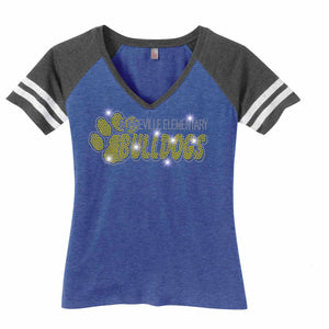 Bonneville Elementary School Bulldogs Jersey Bling VIEW ALL DESIGNS Becky's Boutique Womens Sizing Extra-small (only available in Womens)