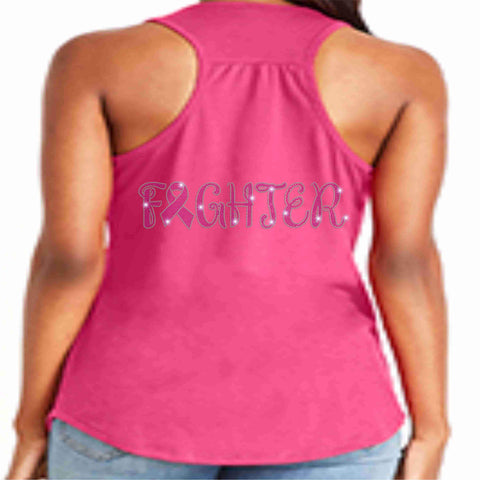 Image of Breast Cancer Awareness - Ladies Tank Pink Causes & Awareness Becky's Boutique Extra Small Figther