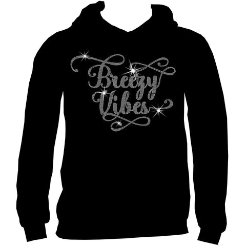 Breezy Vibes Holographic Spangle Sparkle Long Sleeve, Short Sleeve Shirt, Tank and Hooded Sweatshirt-LS Shirt, SS Shirt, Racerback tank and hoodie-Becky's Boutique-XS-Adult Hooded Sweatshirt-Beckys-Boutique.com