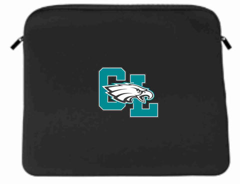 "Image of Corner Lake Middle School 13"" Lap Top Neoprene Sleeve Laptop Sleeve Becky's Boutique CL with Eagle"