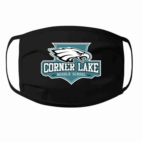 Corner Lake Middle School, Eagles Crest perfect for teams, schools and events Face Mask Beckys-Boutique.com 1000- at 3/ea Black