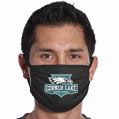 Image of Corner Lake Middle School, Eagles Crest perfect for teams, schools and events Face Mask Beckys-Boutique.com