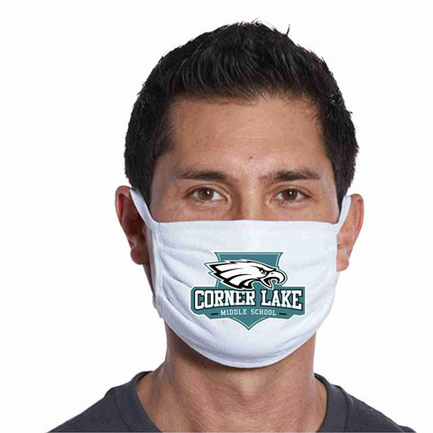 Corner Lake Middle School, Eagles Crest perfect for teams, schools and events Face Mask Beckys-Boutique.com