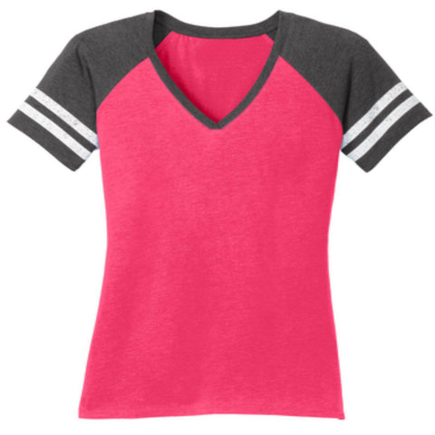 "Image of Custom Ladies Raglan Sleeve ""jersey style"" t shirt- Create your own shirt design-Jersey Shirt-Becky's Boutique-XS-Pink/Dark Gray-Beckys-Boutique.com"