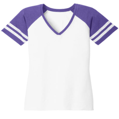 "Custom Ladies Raglan Sleeve ""jersey style"" t shirt- Create your own shirt design-Jersey Shirt-Becky's Boutique-XS-White/Purple-Beckys-Boutique.com"