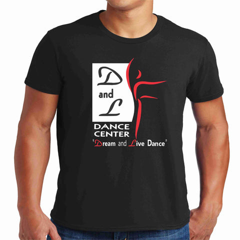 D and L Dance Center Adult Short Sleeve Crew Neck-Black Short Sleeve Crew Neck Becky's Boutique Extra Small