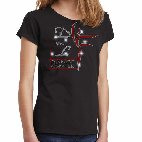 D and L Dance Center Girls Crew Neck Short Sleeve Girls short sleeve Becky's Boutique Extra Small