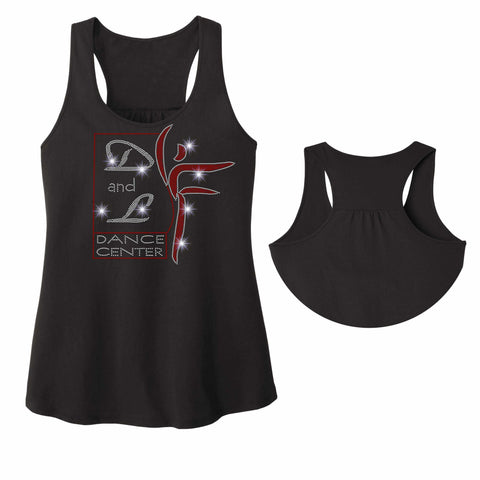 D and L Dance Center Ladies RacerBack Tank ladies racerback tank Becky's Boutique Extra Small