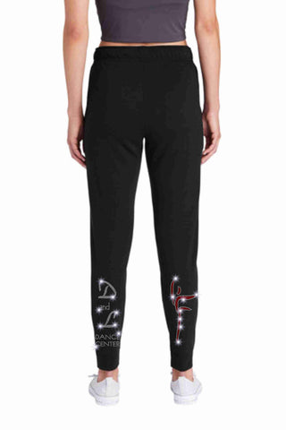 D and L Dance Center Spangle Bling Jogger Pants Jogger Pants Becky's Boutique XS