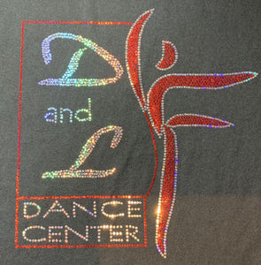 D and L Dance Center Spangle Bling Ladies and Youth Tricot Cadet Jacket Zip up jacket Becky's Boutique