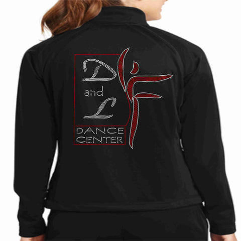 Image of D and L Dance Center Spangle Bling Ladies and Youth Tricot Cadet Jacket Zip up jacket Becky's Boutique Ladies Small