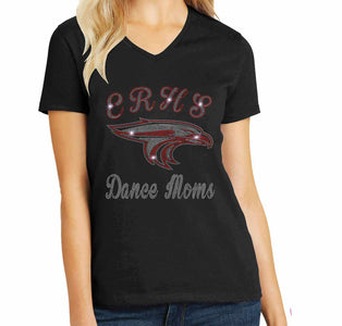 Dance Moms -East River Falcons- High School Spangle Rhinestone Bling shirt Schools Becky's Boutique Extra Small Short Sleeve Crew Neck