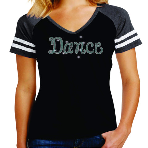 Dance Leg Spangle Bling Dance Gear Team Spirit shirt - Ladies Jersey Shirt Jersey Shirt Becky`s Boutique Extra Small