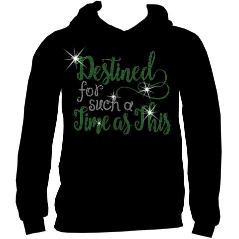 Destined for a Time such as This, Ladies Short Sleeve V-Neck, Long Sleeve V-Neck, Racerback Tank, and Unisex Hooded Sweatshirt-Long Sleeve V Neck, Short Sleeve V -Neck, Hoodie Sweatshirt-Becky's Boutique-XS-Unisex Hooded Sweatshirt-Beckys-Boutique.com