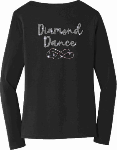 Diamond Dance Academy Ladies Long Sleeve V-neck Ladies Long Sleeve V-neck Becky's Boutique