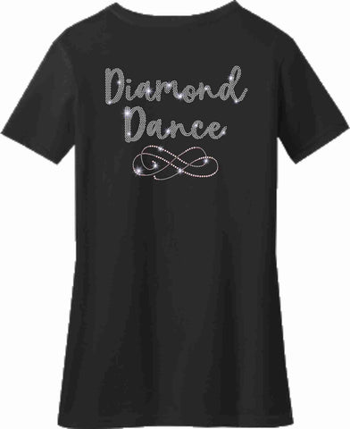 Diamond Dance Academy Ladies Short Sleeve Vneck Ladies Short Sleeve V-neck Becky's Boutique