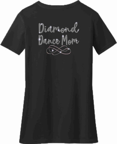 Image of Diamond Dance Mom Ladies Short Sleeve Vneck Ladies Short Sleeve V-neck Becky's Boutique